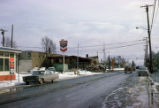 Street in Anchorage after 1964 earthquake.