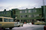 Damage to Hillside Apartments in Anchorage caused by 1964 earthquake.
