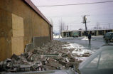 Damage to building in Anchorage after the 1964 earthquake.