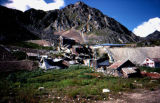 Remains of mill complex and powerhouse at Independence Mine State Historical Park.