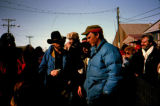 Musher Larry 'Cowboy' Smith and Lavon Barve on Front Street in Nome.