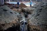 Digging for Redington septic system.