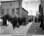 Outside mail arived [sic] at Nome Post Office, March 15, 1907.