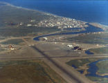 Aerial view of Nome in summer.