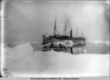 S.S. Sealander in the ice with 1100 people, Alaska.