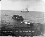 S.S. Victoria in the distance - Chechaco's [sic] landing from S.S. Ohio, Nome, Alaska