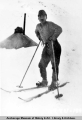 Japanese soldier skiing on Attu, 1943.