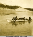 Boat on the Yukon River.