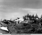 Turnagain area houses destroyed by 1964 earthquake, Anchorage.