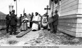 Chief Alexei Yachmanoff, Unalaska, outside altar.