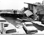 Collapsed building, Anchorage, Alaska, March 1964.