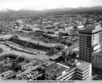 Anchorage central business district after the March 1964 earthquake.