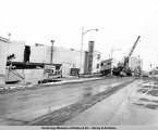 4th Avenue and B Street, Anchorage, Alaska, March 1964.