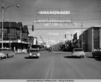 4th Avenue and E Street, Anchorage, Alaska, Summer 1964.