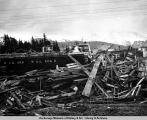 Earthquake and tsunami damage, Seward, Alaska.