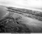 Aerial view of Homer after the 1964 earthquake.