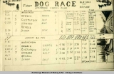 Scoreboard, first dog race, Old Knik and return.
