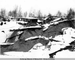The Turnagain neighborhood, Anchorage, after the 1964 earthquake.