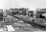 The first snow falls in Anchorage, Oct. 8, 1915.