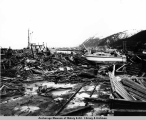 Damage in the harbor area, Seward, Alaska.