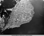 Aerial view of Seward, Alaska, April 1964.