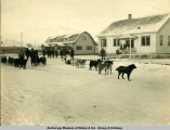 First overland mail leaving Anchorage, November 28th, 1916.