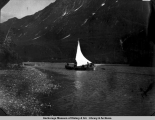 Sailboat, probably on Valdez Arm.
