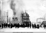 Hotel Northern burning at Valdez, Alaska, 1905.