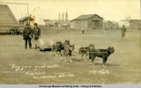 Dog-gone good roller, Ball Park, Anchorage, Alaska, 1916.