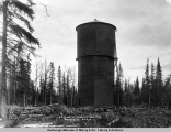 A.E.C. water tank on Gov[ernment] Hill, Anchorage, Alaska.