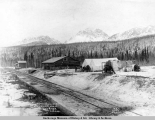 Depot, Commisary [sic] and freight house, King[s] River, Alaska.