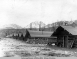 Camp 24, King [sic] River, Alaska, Matanuska Branch, A.E.C. R[ailwa]y, looking west.