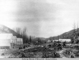 Camp 32, Matanuska Branch, A.E.C. R[ailwa]y, looking south, Feb. 10, [19]17.
