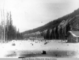 Camp 27, Matanuska Branch, A.E.C. R[ailwa]y, looking south,  Feb. 11, [19]17.