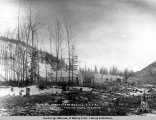 Camp 32, Matanuska Branch, A.E.C. R[ailwa]y, looking north, Feb. 10, [19]17.