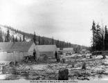 Camp 27, Matanuska Branch, A.E.C. R[ailwa]y, looking north, Feb. 11, [19]17.