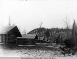 Camp 24, King [sic] River, A.E.C. R[ailwa]y, looking east, Feb. 11, [19]17.