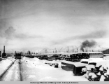 Stock of bridge ties, Mar. 1, [19]17, A.E.C. R[ailwa]y, Anchorage, Alaska.