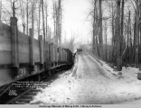 Temporary coal loading platform at Eska Creek spur, Feb. 13, [19]17, A.E.C. R[ailwa]y.