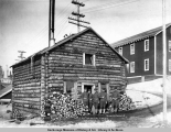 Guard house, A.E.C. R[ailwa]y terminal yards, Anchorage, Alaska.
