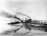 Ann[e] W. leaving Anchorage for Seldovia, Alaska, March 8th, 1917, 7:30 a.m.