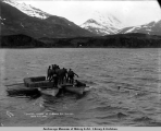 Landing horses at Portage Bay, Alaska, from S.S. Dora.