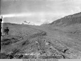 Valdez-Fairbanks wagon road near summit of Thomson [sic] Pass, south side.
