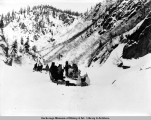 Fairbanks mushers in Keystone Canyon.
