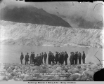 Secretary Walter L. Fisher and party viewing Childs Glacier on Copper River and Northwestern...