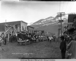 Parade on McKinley St., Valdez, Alaska, July 4, [19]11.