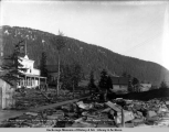 Elemar (sic) Mining Co.'s store and buildings, Elemar [sic], Alaska, Apr. 17, [19]05.