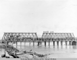 Two completed spans, Matanuska River bridge, Aug. 23, [19]16.