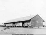 Railway freight house, Matanuska Junction, Alaska, Aug. 23, [19]16.