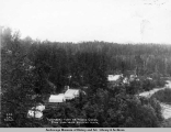 Temporary town of Moose Creek from coal mine railway track.